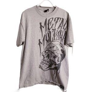 Metal Mulisha Skull Head Print Logo Shirt
